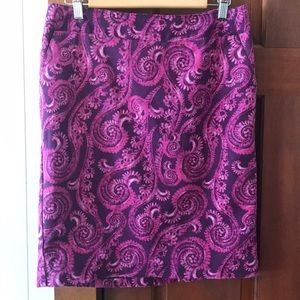 Merona purple printed pencil skirt